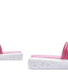 SLIDE BOLD LEATHER PINK