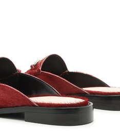 Flat Mule Mocassim Soft Red