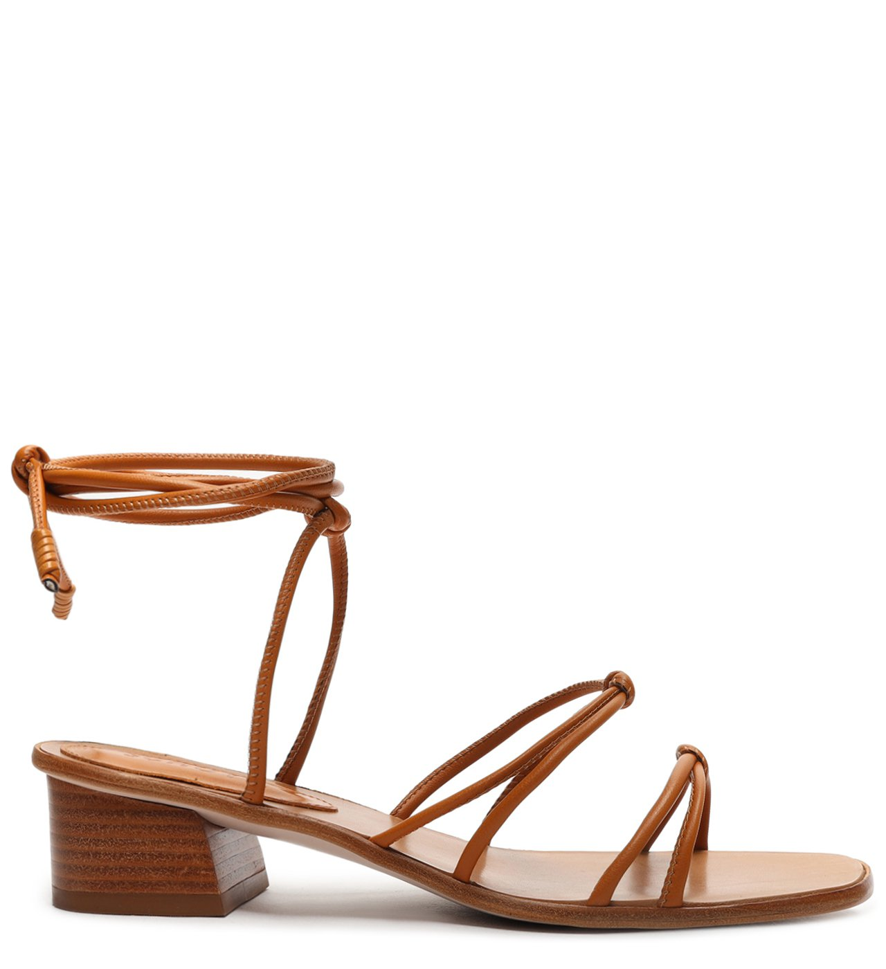 Sandália Micro Block Heel Strings Wood | Schutz