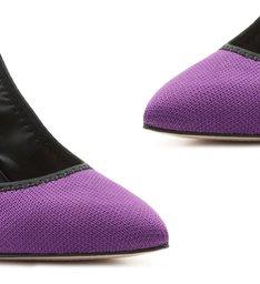 Sapato Scarpin Slingback Sporty Roxo