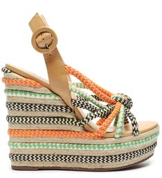 Sandália Wedge Knot Fresh Colors
