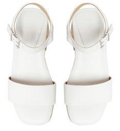Sandália Salto Baixo Tratorada Branca