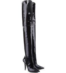 Bota Fetiche Maxi Over The Knee Varnish Black
