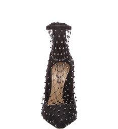 Scarpin Fishnet Crystal Black