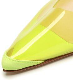 Flat Slingback Vinil Lime
