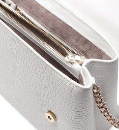 Shoulder Bag Eva Croco White