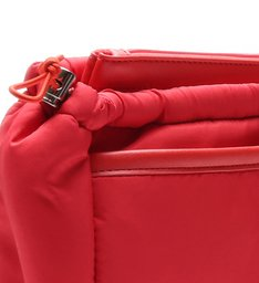 CLUTCH NYLON DOUBLE POCKET RED