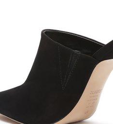 Sapato Mule Salto Nobuck Preto