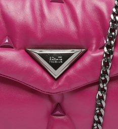 Bolsa Tiracolo Média Couro 944 Pink