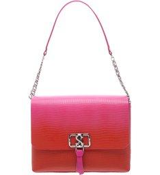 Shoulder Bag Eva Croco Red Degradê