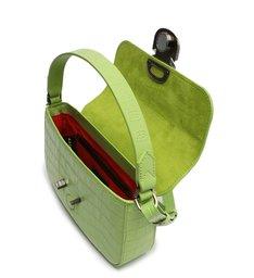Bolsa Tiracolo Ssnaps Couro Croco Verde Neon