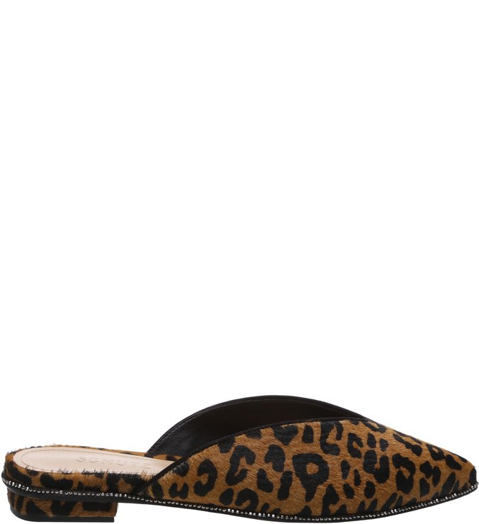 Flat Mule High Vamp Animal Print