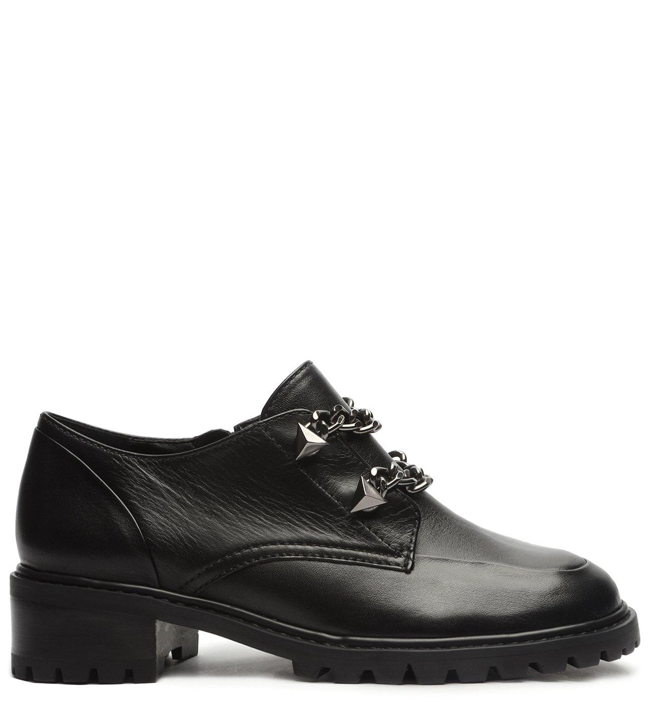 Sapato Oxford Tratorado Corrente Preto | Schutz