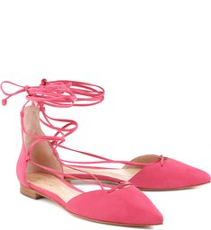 Sapatilha Bico Fino Lace Up Pink Flamingo