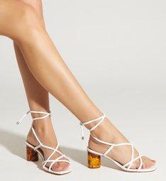 Sandália Block Heel Turtle White