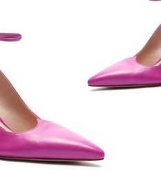 Schutz x Ginger Scarpin Lace-Up Pink