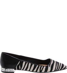 Sapatilha Bico Fino Zebra Studs