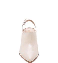 Mule Slingback Block Heel Minimal White