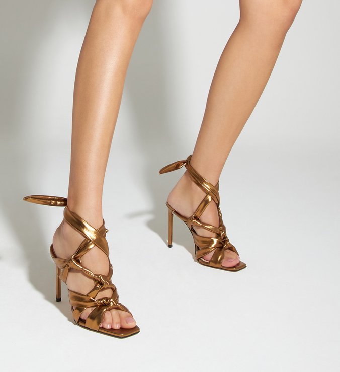 Sandália Stiletto Twist Bronze