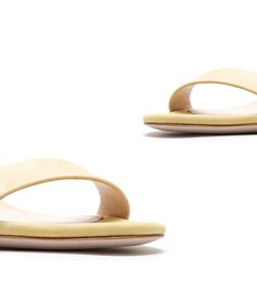 Sandália Block Heel Nobuck New Yellow