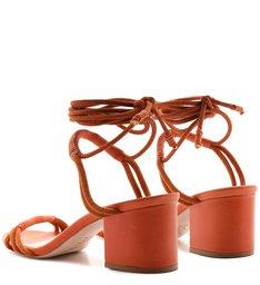 Sandália Block Heel Rope Strings Ocre