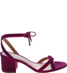 Sandália Block Heel Strings Pink Lilac