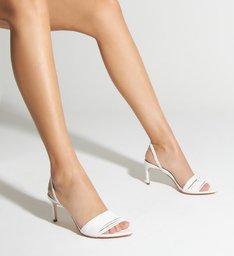 Sandália Mid Heel Ivy White