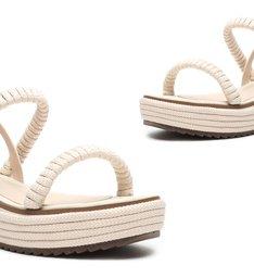 Sandália Flatform Texture White