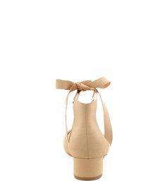 Scarpin Ballerina Block Heel Light Wood