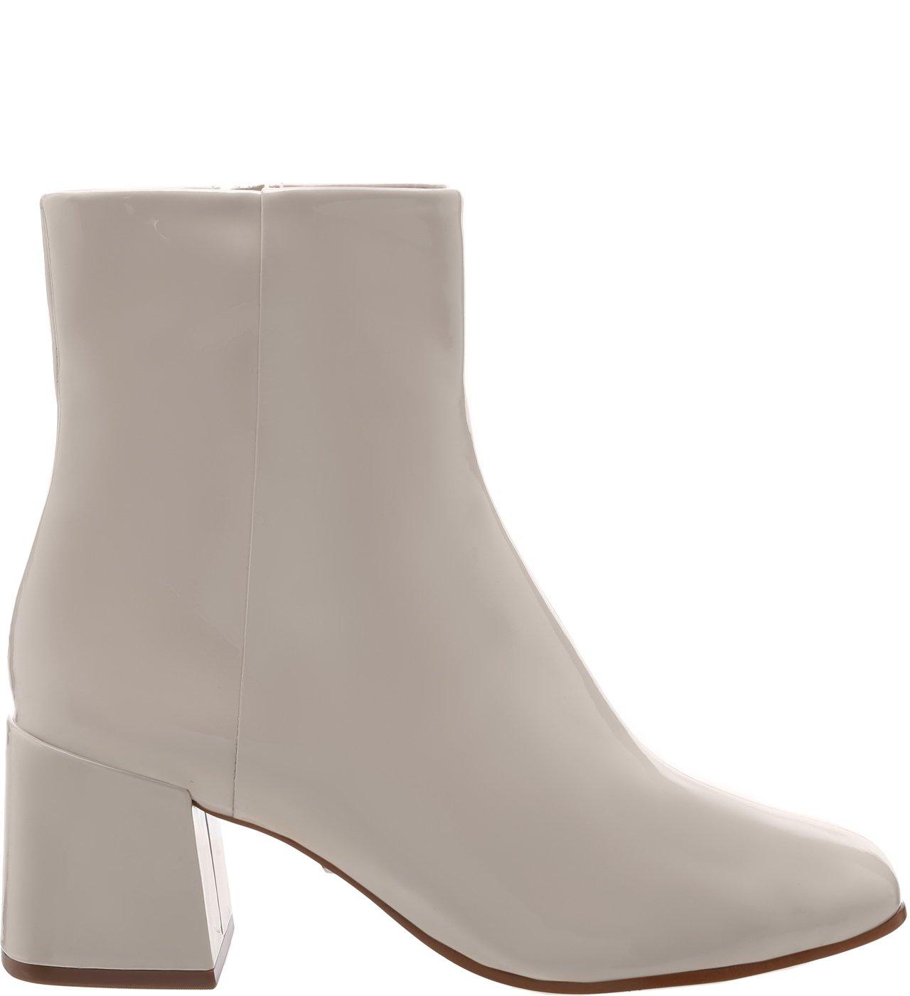 Bota Block Heel Verniz White | Schutz