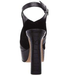 Sandália Salto Bold Croco Black