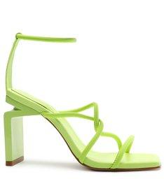 [Pre-Order] Sandália Salto Alto Geométrico Millie-X Tiras Verde Neon