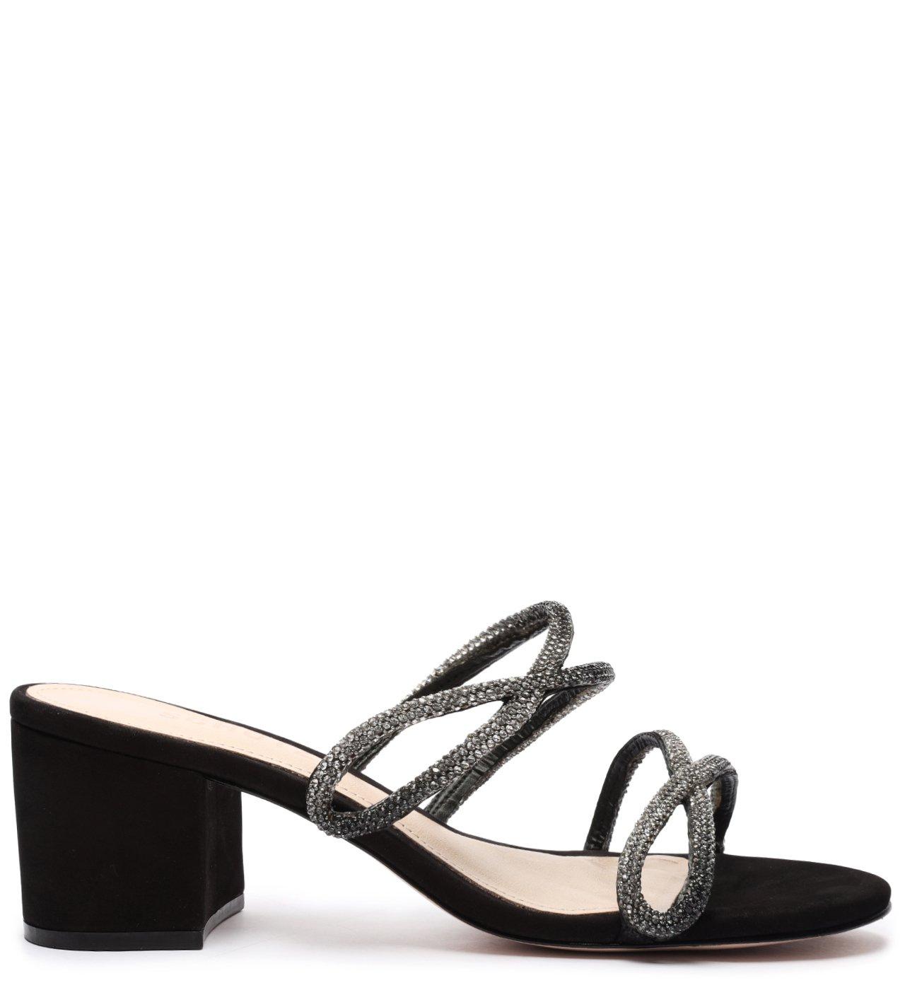 Sandália Mule Block Heel Glam Black | Schutz