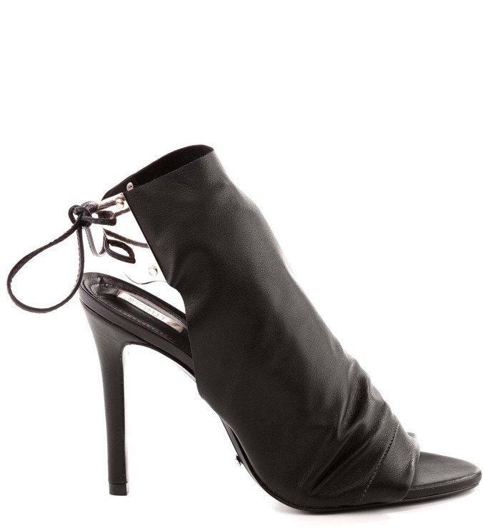 Ankle Boot Amarração Preta