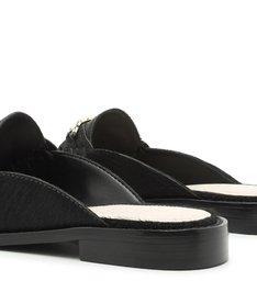 Flat Mule Mocassim Soft Black