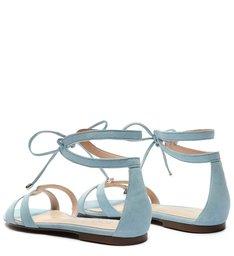 Sandália Rasteira Minimal Pop Blue
