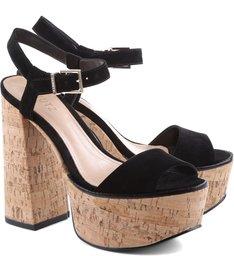 Sandália Bell Heel Black