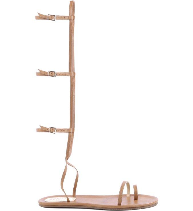 Flat Sandal Thin Stripes Gladiator Bamboo
