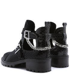 Bota Stella Cut Out Snake Black