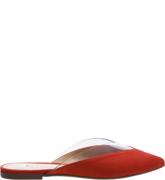 Flat Mule Crystal Red