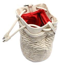 Bolsa Bucket Pequena Noah Couro Branca