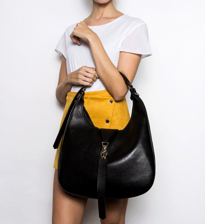 Maxi Hobo Bag Berta Black