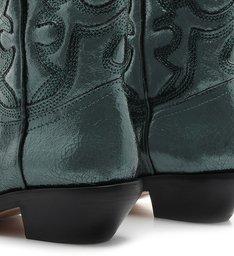 Bota New Western Metallic Green