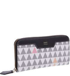 Carteira Triangle Pearl/Black