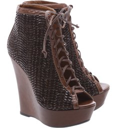 Ankle Boots Anabela Brown