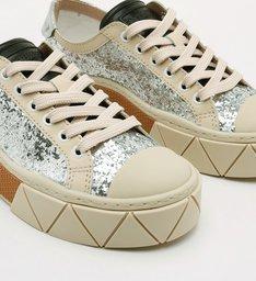 Tênis Urban Glitter Prata