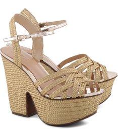 Sandália Seventies Ouro