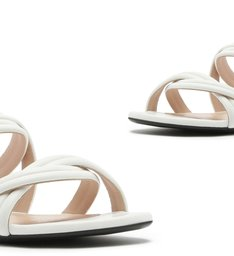 Slide Double Straps White