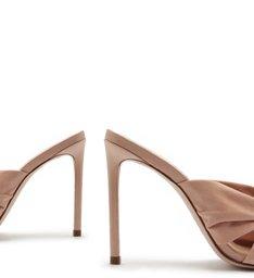 Sandália Mule Suede Knot Rose