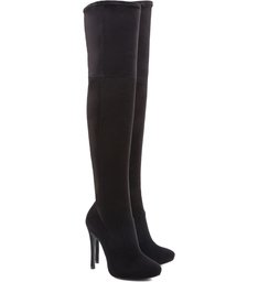 Over The Knee High Heel Boot Black